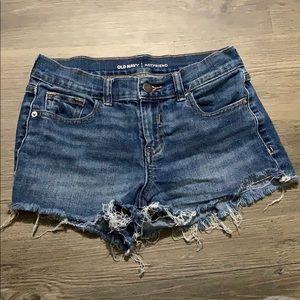Frayed boyfriend shorts